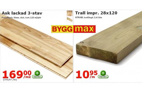 billiga byggvaror