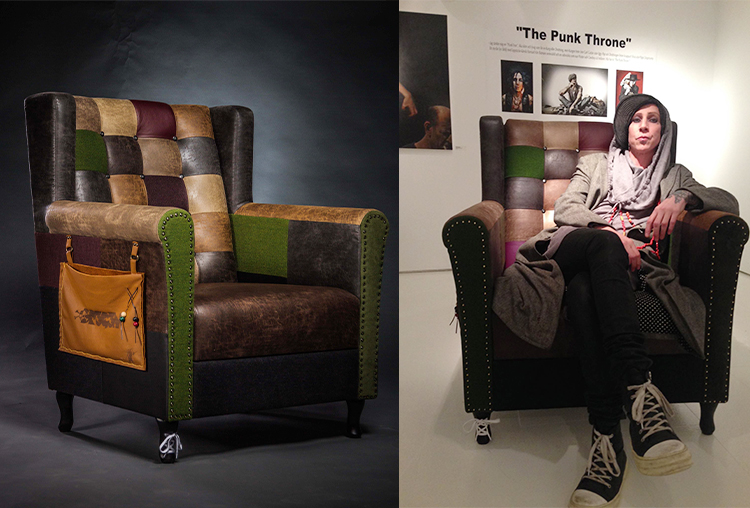The Punk Throne designad av Dregen för Vilax möbeldesign.