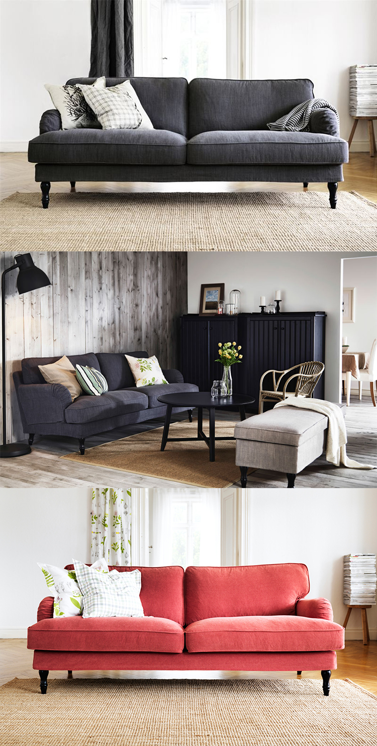en helt ny- snygg och billig, soffa hos ikea!