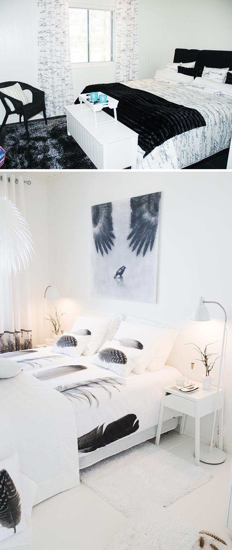 Inspiration - svartvitt sovrum