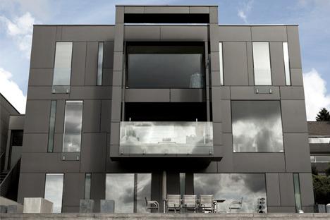 Fibercementskiva fasad