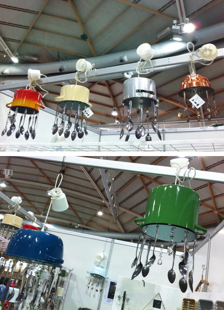 Lampor gjorda av kastruller