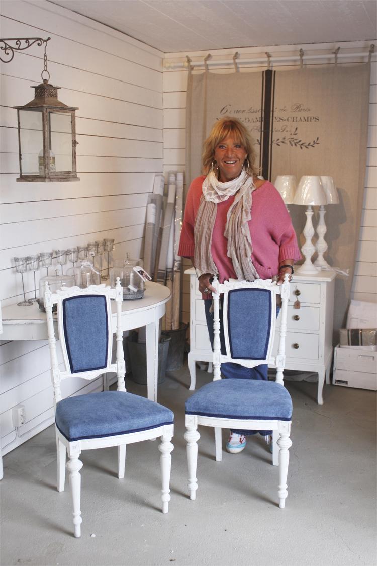 Lill-Babs gör om möblerna i shabby chic!
