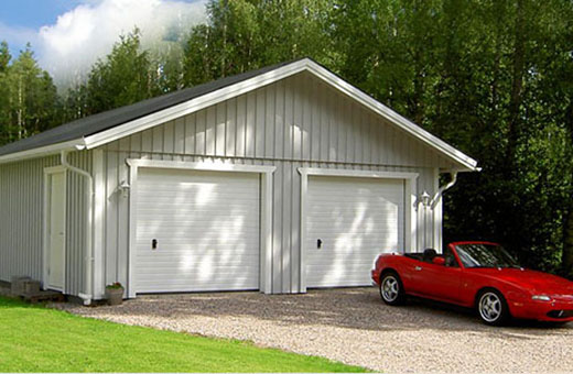 garage byggsats eller lösvirke