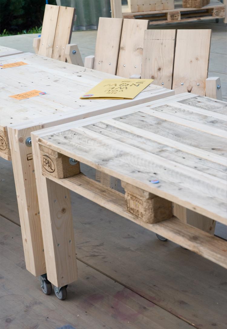 Snygga bord till altanen av lastpallar!