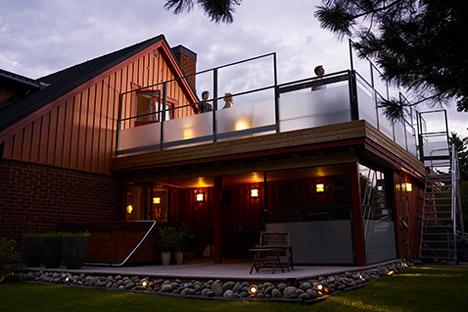 Carport med terrasse på taket