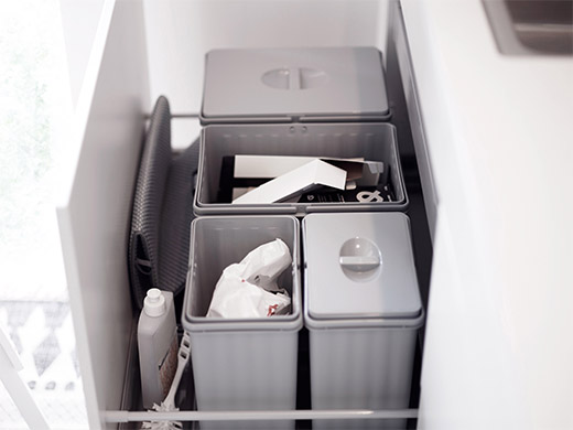 Välj bänkskåp med standardlådor där det är möjligt. Nyttja ...