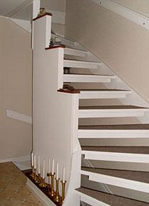 Måla trappa med linoleummatta