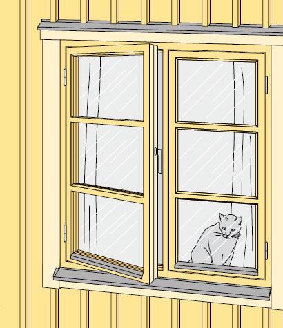 Gamla fönster skänkes